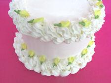 64 Edible Mini Yellow Sugar Icing  Rosebuds Cake Cupcake & Cake Toppers
