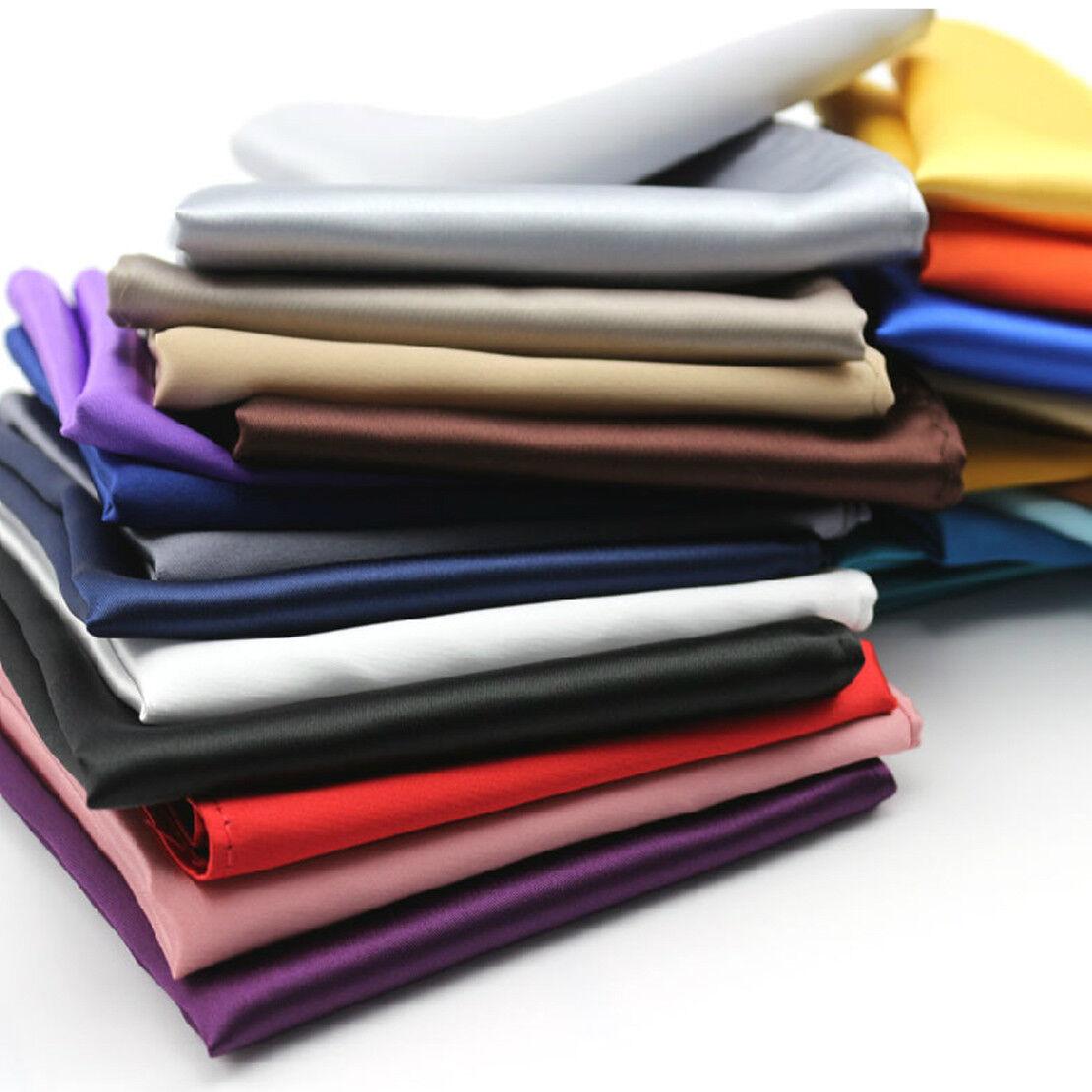 26stk Men Solid Silk Suit Pocket Square Handkerchief Towel Wedding Einstecktuch