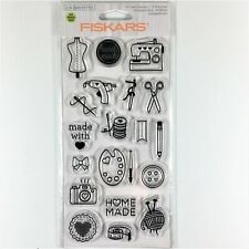 NIP Fiskars Clear Stamps ~11 SAY IT LOUD Stamps~ Item# 103490-1001