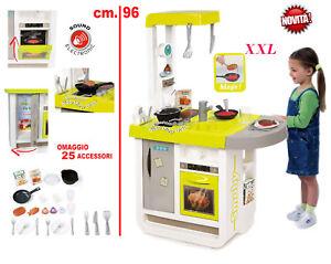 Dettagli su CUCINA GIOCATTOLO bambini cucina GRANDE chef XXL con forno  frigo + 25 accessori