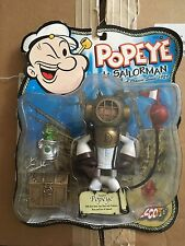 Mezco POPEYE deep dive scuba gear diver action figure toy htf