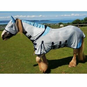 GS-equestre-All-in-One-Combo-mailles-Tapis-Fly-Free-Fly-Mask-Large-Ventre-amp-Queue-Rabat