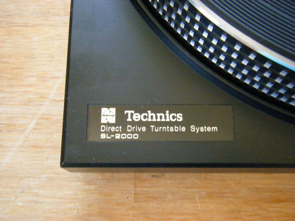 Pladespiller, Technics, SL 2000
