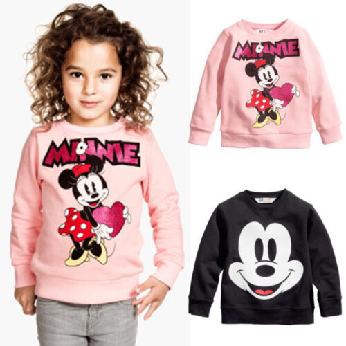 Mickey Minnie Pullover Kinder Mädchen Jungen Hoodie T-shirt Mantel Hosen Outfits