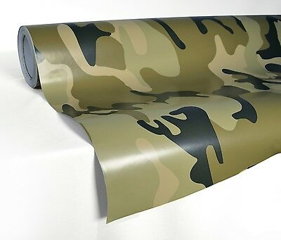 "48/"" x 60/"" Army Camo Camouflage Desert Vinyl Film Wrap Air Bubble Free 4ft x 5ft"