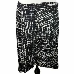 PORTMANS-Black-White-Skirt-Geometric-Asymmetrical-Women-039-s-Plus-Work-Office-Wear