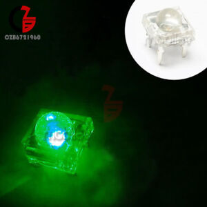 5mm F5 Piranha LED Green Red Yellow Blue White Round Head Super Bright Light UK