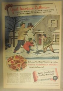 Swift-and-Company-Ad-Swift-039-s-Premium-Sausage-from-1940-039-s-Size-11-x-15-inches