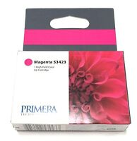 2 Pk Primera Ink Cartridge 53423 Magenta For Lx900 Color Label Printer