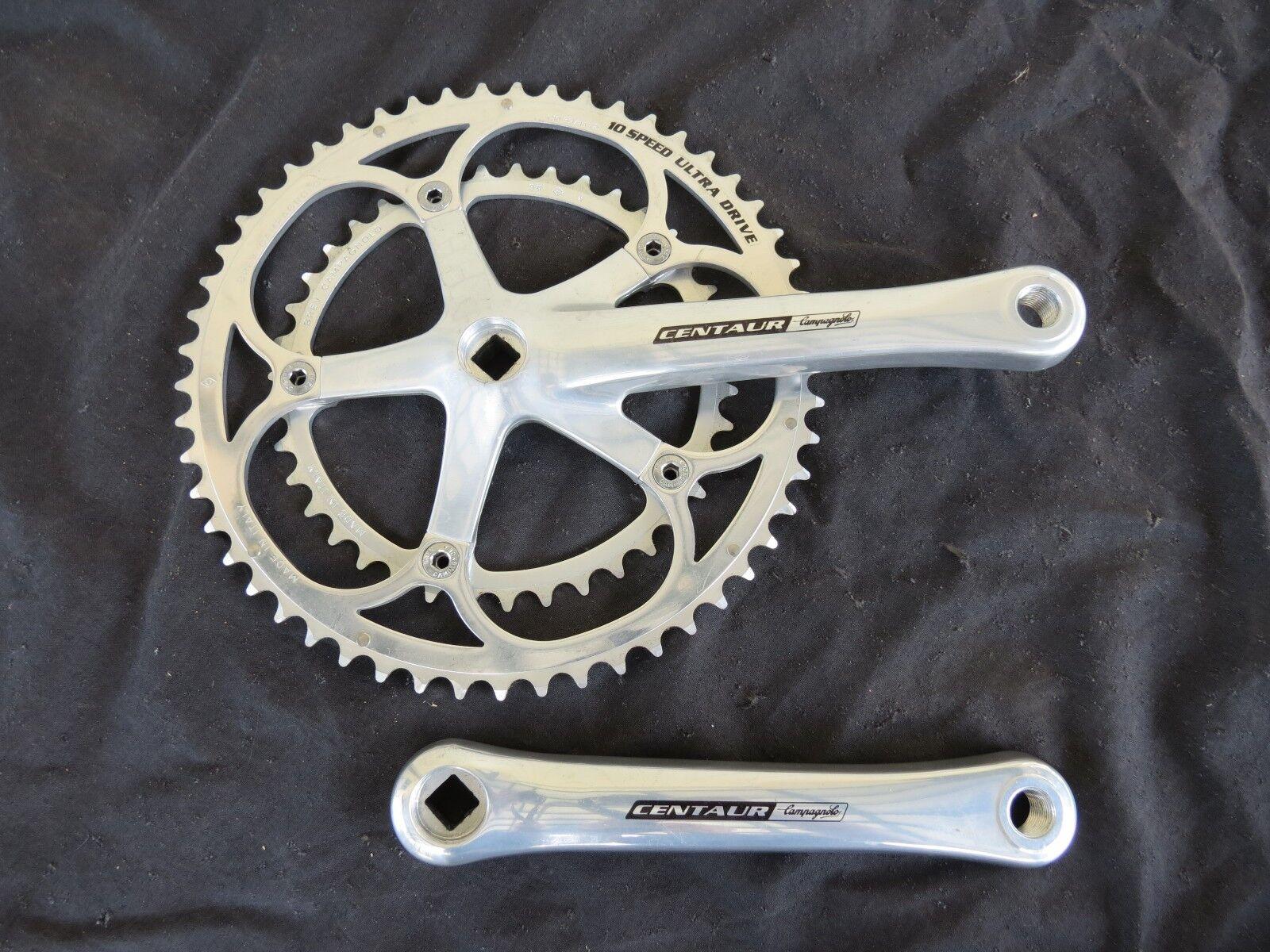 Campagnolo Centauro 10 velocidad Manivela Conjunto 172.5 39 53 carreras de carretera Bicicleta Vintage