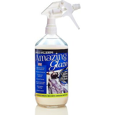 Pro-Kleen Amazing Glaze Waterless Wash Wax with Carnauba Wax Showroom Finish 1L
