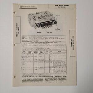 SAMS PHOTOFACT SERVICE MANUAL 42-12 1948 FORD RADIO 8MF880 8A 8805B