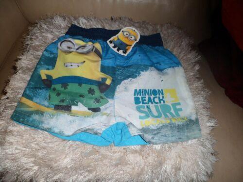 boys genuine minions swim pants//short 2 sizes age 3 /& 4yrs