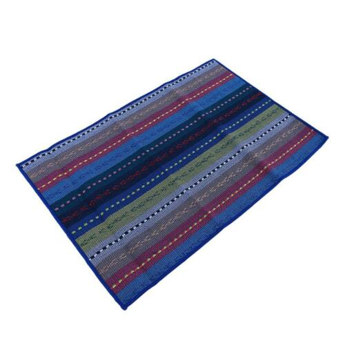 Colorful Striped Cotton Fabric Dinner Mat Placemat Kitchen Table Pad H