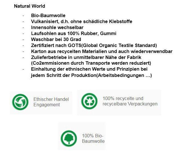Natural World 107E 632 braun original 100% Bio-Baumwolle waschbar waschbar waschbar zertifiziert 5b9bee