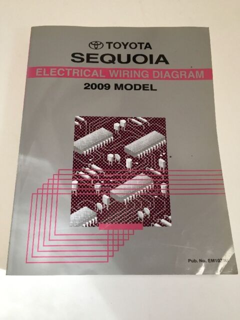 2009 Toyota Sequoia Factory Electrical Wiring Diagram Book