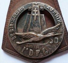 Insigne FFL FRANCE LIBRE QG 50 TRAIN 1° DFL ORIGINAL sur cuir WWII 1944/1945