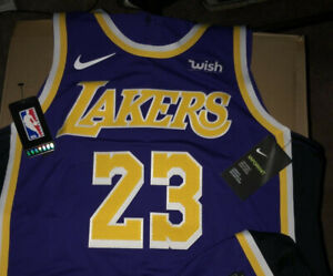 Details about Authentic Lebron James Nike Statement Lakers Jersey Size 52 XL Wish Patch