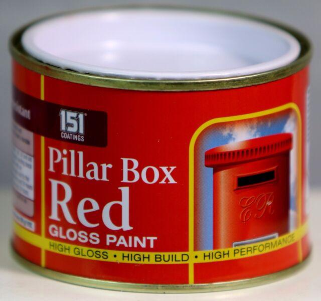 PILLAR BOX RED GLOSS PAINT Indoor Outdoor Top Coat Painting Durable 180 ml