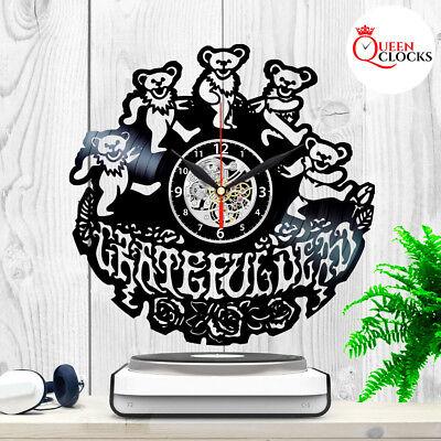 Grateful Dead Logo Bears Vinyl Record Wall Clock Birthday