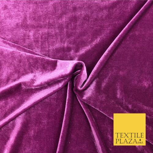 "Dusty Pink Soft Plain Velvet Fabric Material 58/"" More Colours PA141"