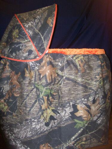 Custom Mossy Oak and Minky Bassinet Covers