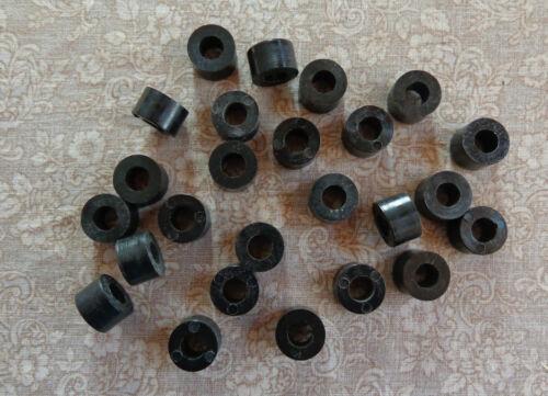 Package of 25 Plasticraft Black Plastic Round Door Slide Spacer