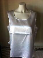 Maurada Sleeveless Tank Top White 16w Polyester 00518 Ladies Casual Plus