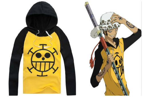 Neu Cosplay One Piece Trafalgar Law Kapuzen Sweatshirt Hoodie Anime Manga 001