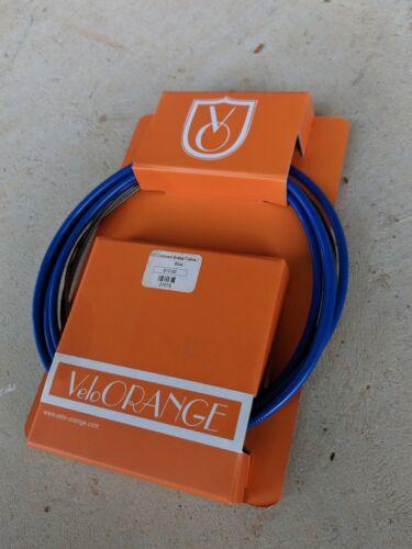 Velo Orange Tressé Câble De Frein Kit-extérieur et intérieur câbles-Bleu