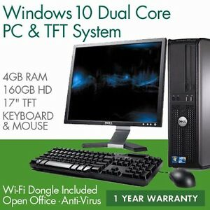 FULL-DELL-HP-DUAL-CORE-DESKTOP-TOWER-PC-amp-TFT-COMPUTER-SYSTEM-WINDOWS-10-amp-4GB