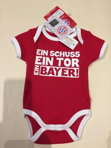 Baby Body FC Bayern München 23212 ein Schuss ein Bayer Größe 50//56-7 ein Tor