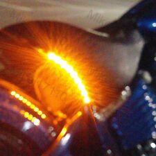 2x Amber Turn Signals Seat Peg Fork Fender Mirror Fairing Indicators