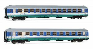 Rivarossi Hr 4220 2 Pièces Wagon Train Rapide Uic-x ,2nde Classe Le Fs Ep.5 / 6€