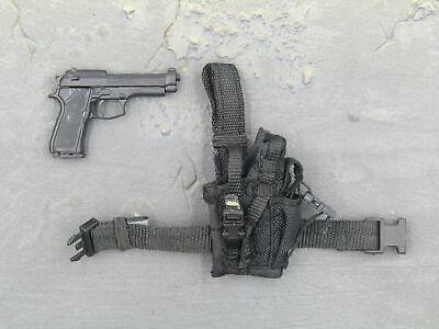 1//6 Scale Toy COD Ghost M9 Beretta w//Tan Drop Leg Holster