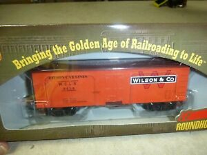 309-HO-CAR-RTR-ROUNDHOUSE-WILSON-36-039-REEFER-CAR