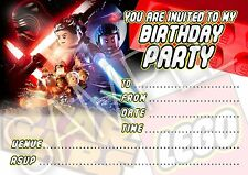 Party Invitations Lego Star Wars Force Awakens Birthday Party -10 cards per pack