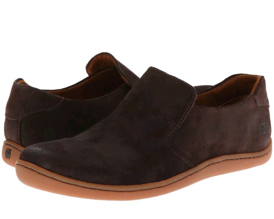 NEW Born Men's Moka Galen Brown Suede Leather Casual Slip on Loafer 9 D(M) US