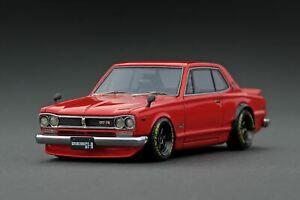 1:43 Nissan Skyline 2000 GT-R (KPGC10) -- Red -- Ignition Model IG1933