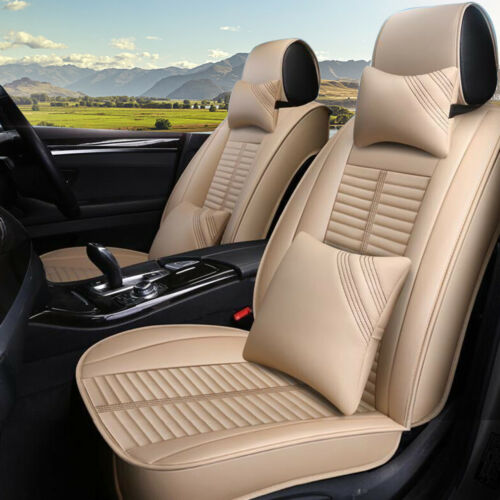 Seat Cover 5-Seats Luxury Deluxe Edition Cover Cushion 5-Seat Front Rear Pillows