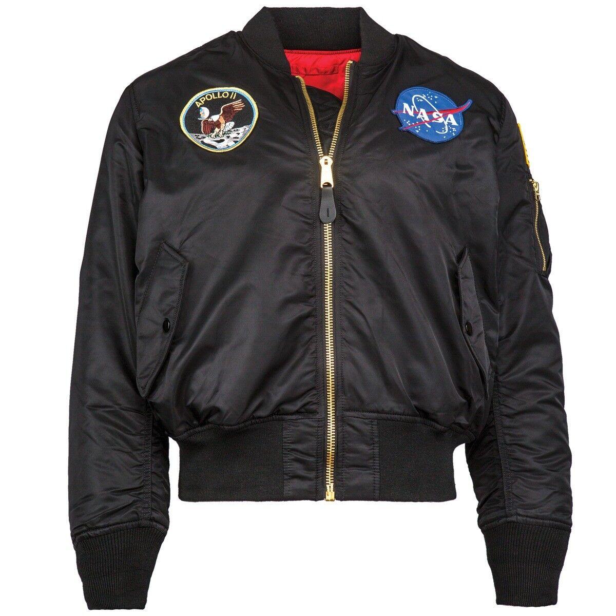 Alpha Industries Mens NASA Apollo MA-1 Bomber Jacket MJM21097C1