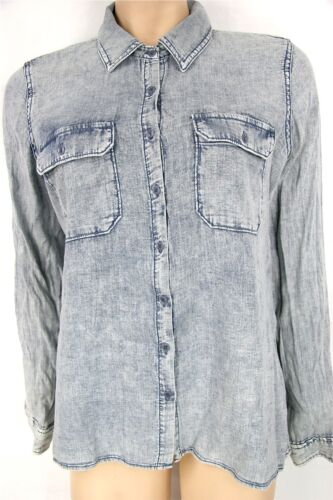 Guess Washed  Chambray Casual Shirt 100/% Cotton Guess