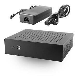 Mx500 industrial fanless mini itx case w 120w dc dc power for Case itx fanless