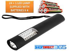 CORDLESS Magnetico 24 + 1 LED Lampada Ispezione Torcia Torcia Elettrica Luce Campeggio Lavoro