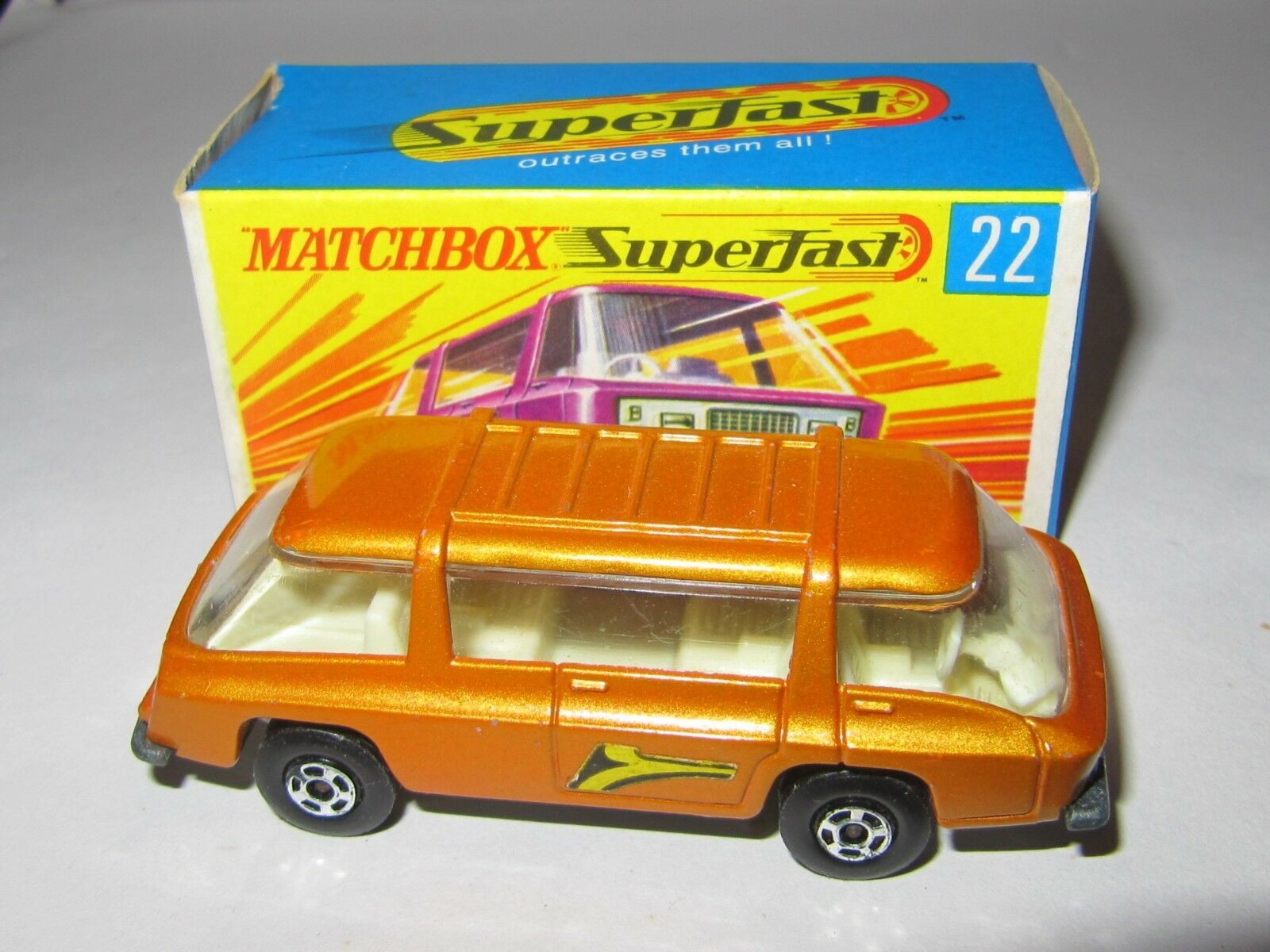 MATCHBOX SUPERFAST No.22 Freeman Inter-City PENDOLARE  RARO  ColoreeeE oro Nuovo di zecca con scatola