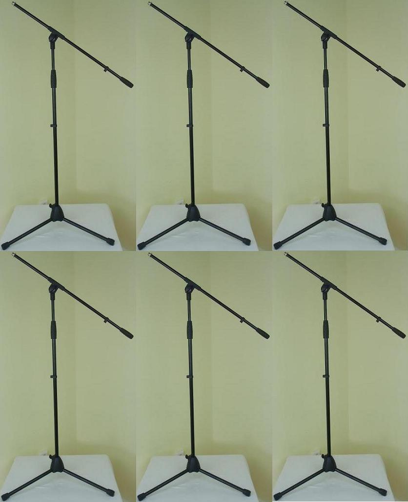6x ADAM HALL Mikrofonständer ECO Mikro-Stativ Mikrofonstativ Galgen   Schwenkarm