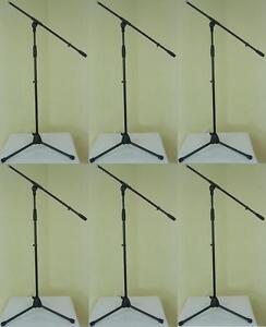 6x-ADAM-HALL-Mikrofonstaender-ECO-Mikro-Stativ-Mikrofonstativ-Galgen-Schwenkarm