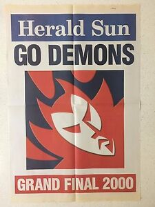 2000-HERALD-SUN-GRAND-FINAL-039-GO-DEMONS-039-POSTER-MELBOURNE-DEMONS-VS-BOMBERS