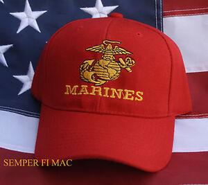 4bf83e14aec US MARINES EGA SEAL LOGO HAT CAP VETERAN VET PIN UP WOWMH MAR DIV ...