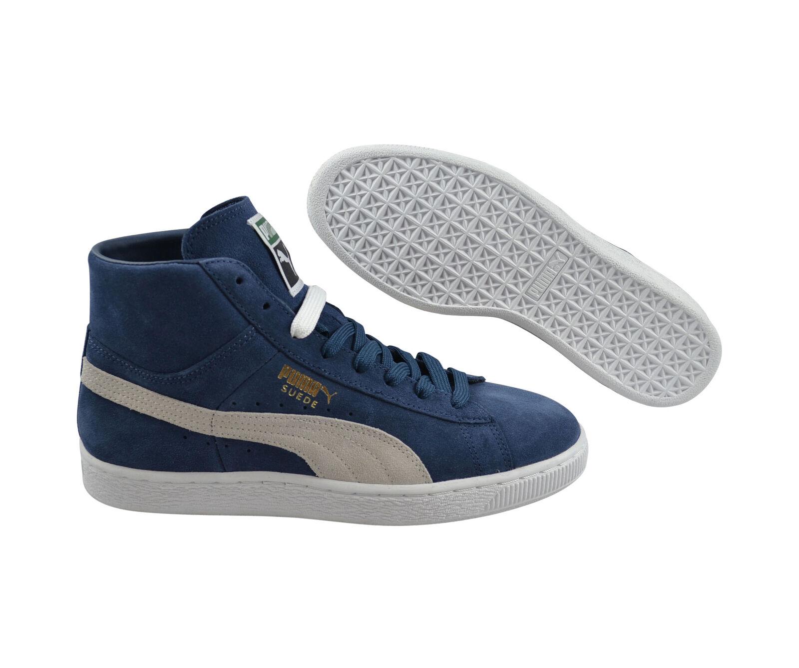 Puma Suede Mid Classic+ dark denim/white Schuhe/Sneaker Mid 356340 04 Neu